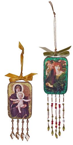 Beaded Altoids Tin Ornaments