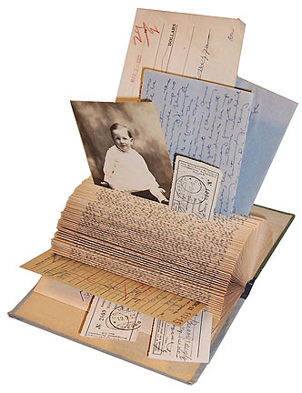 Altered Book Note Holder