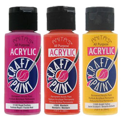Anita's Acrylic Craft Paints are available at most craft stores.