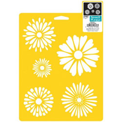 Plaid Delta Stencil Mania Daisies, Size 7-Inch by 10-Inch