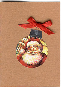 Christmas Card Ornament Cards