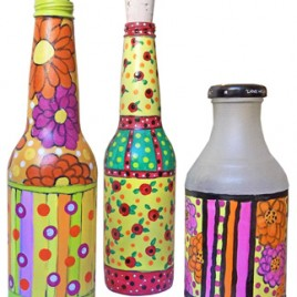 How To Make Doodled Glass Bottles